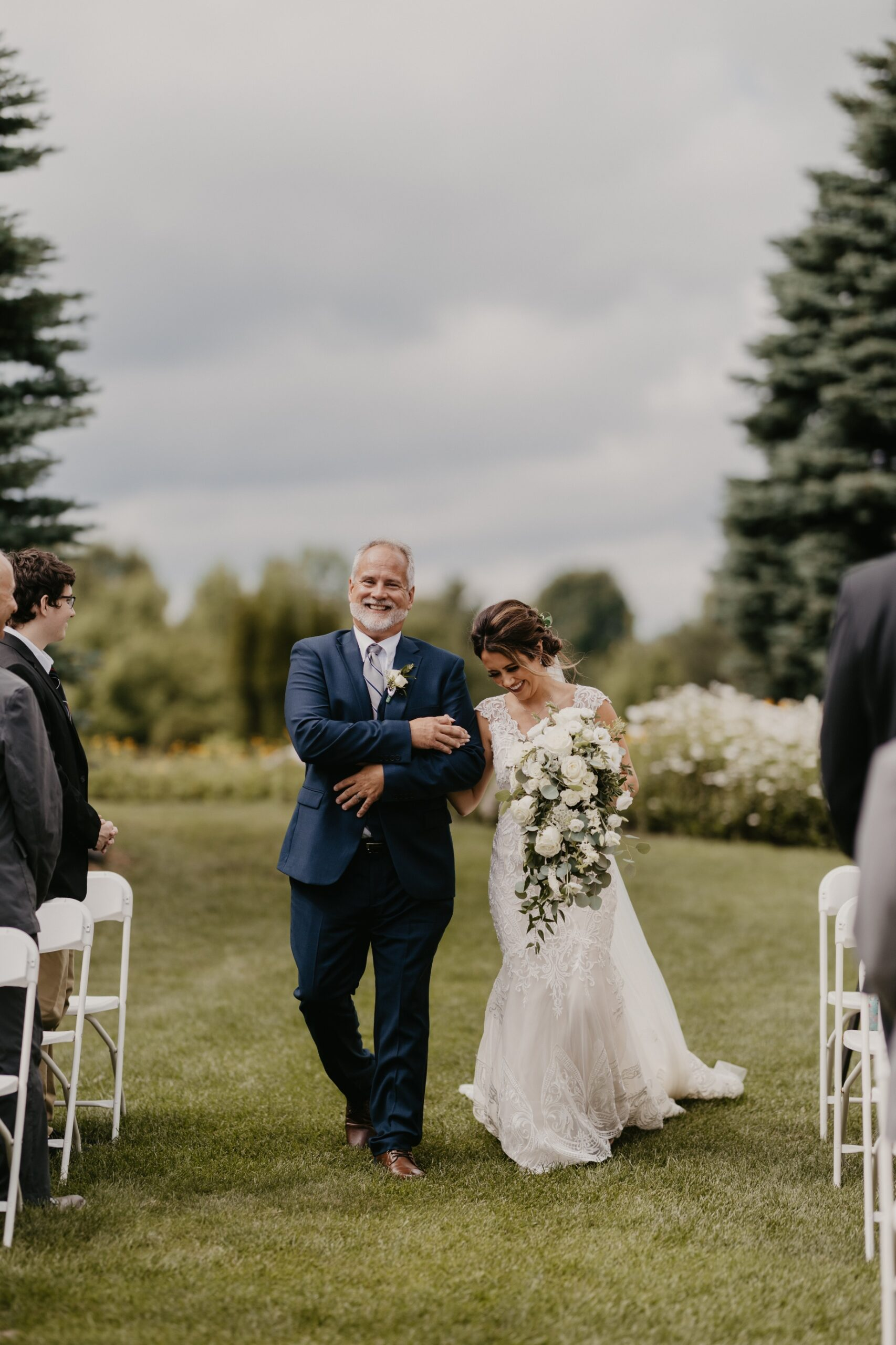 Bride and Father at Timberlee Hills Wedding