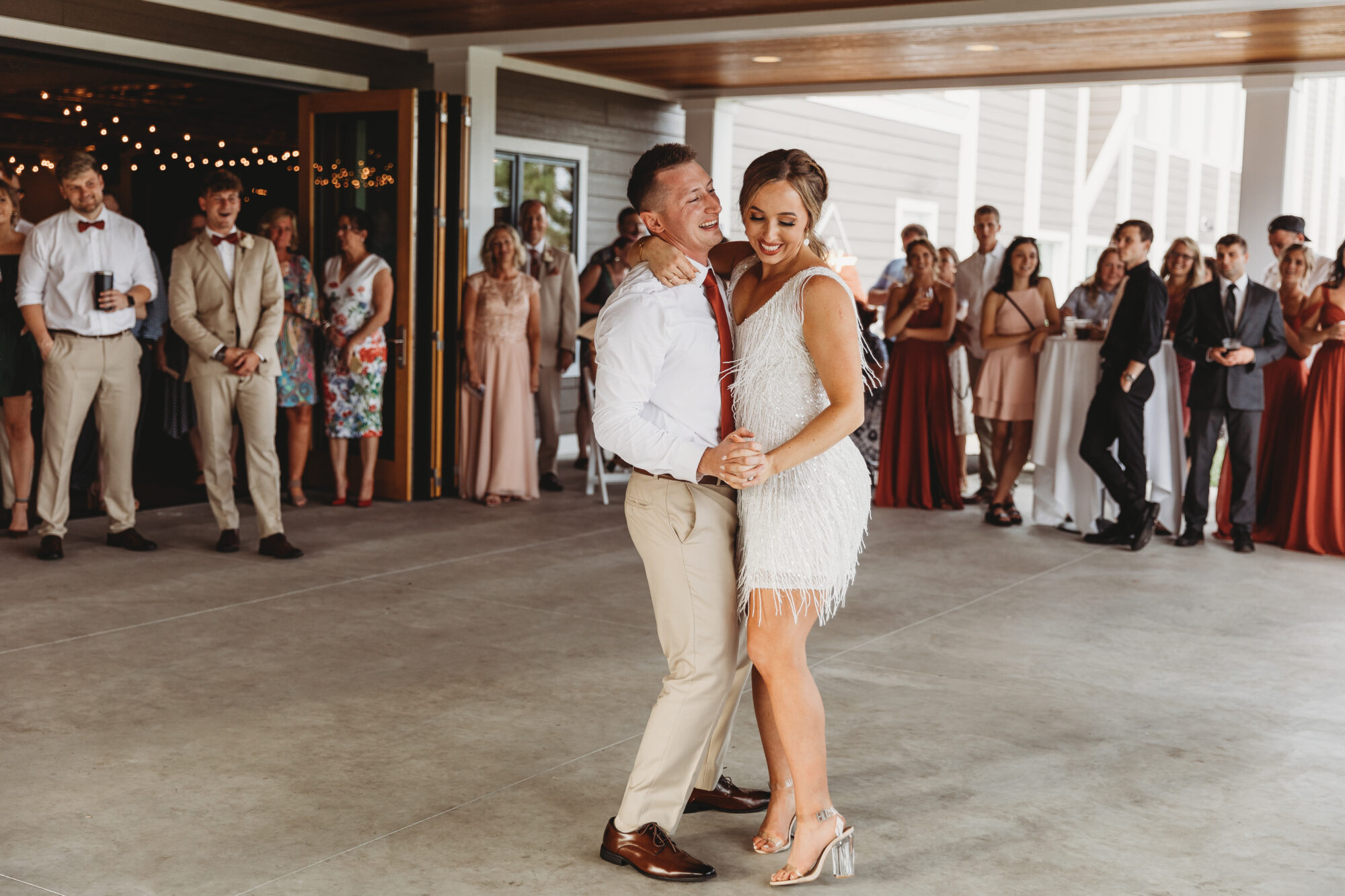 Married couple at Timberlee Hills Wedding
